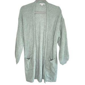 AE | Light Moss Sweater Long Cardigan